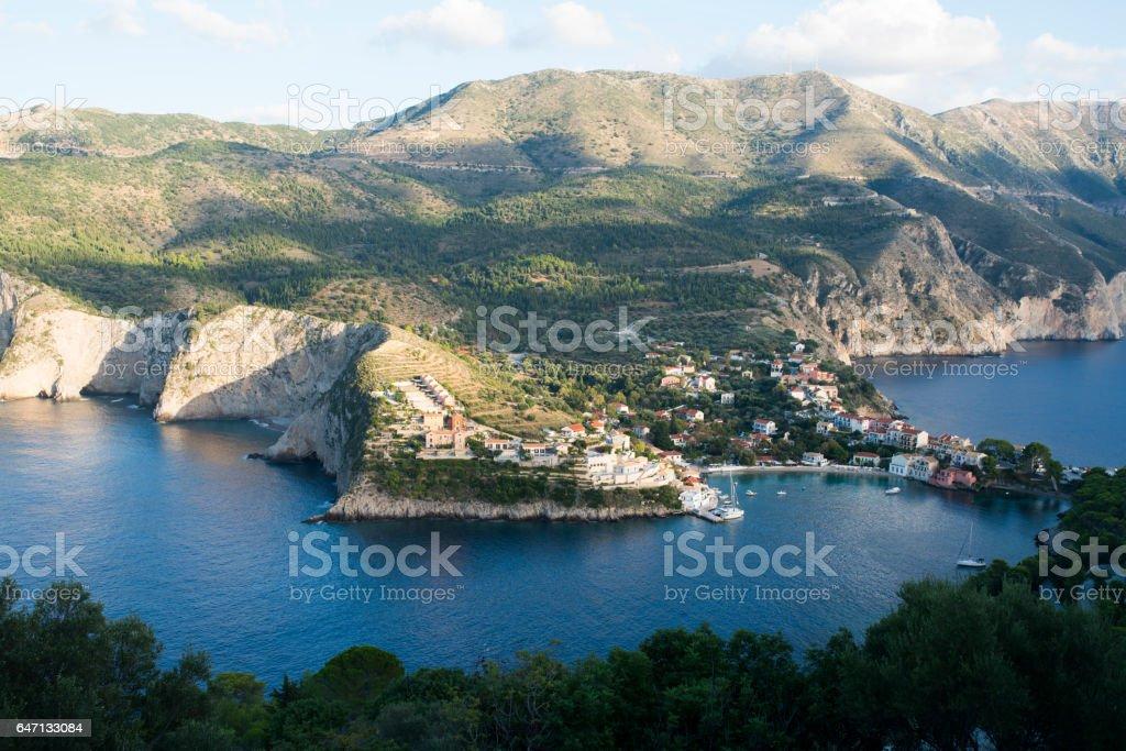 Traditional Greek Village stock photo