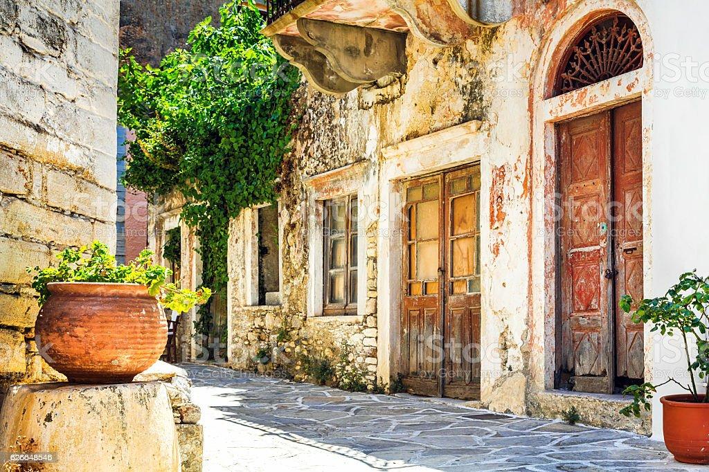 traditional greek villages, Chalki,Naxos island stock photo