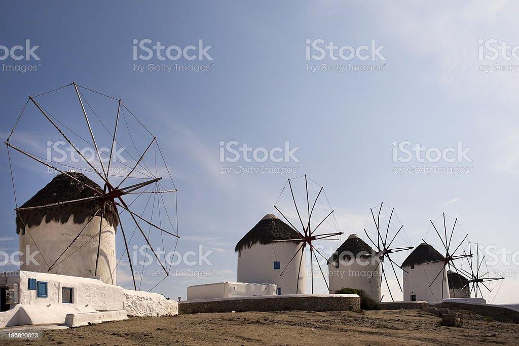 'Traditional Greek Windmills on Myconos, Greece (XL)' stock photo