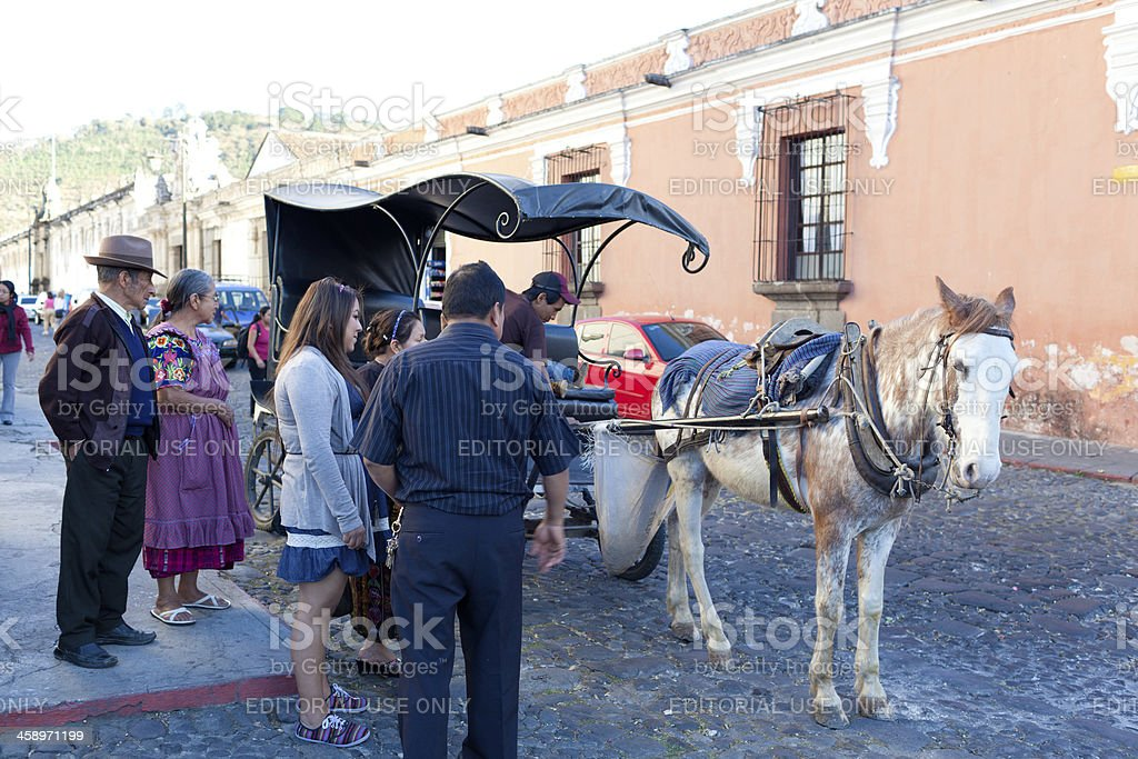Traditional Guatemalan Family royalty-free stock photo