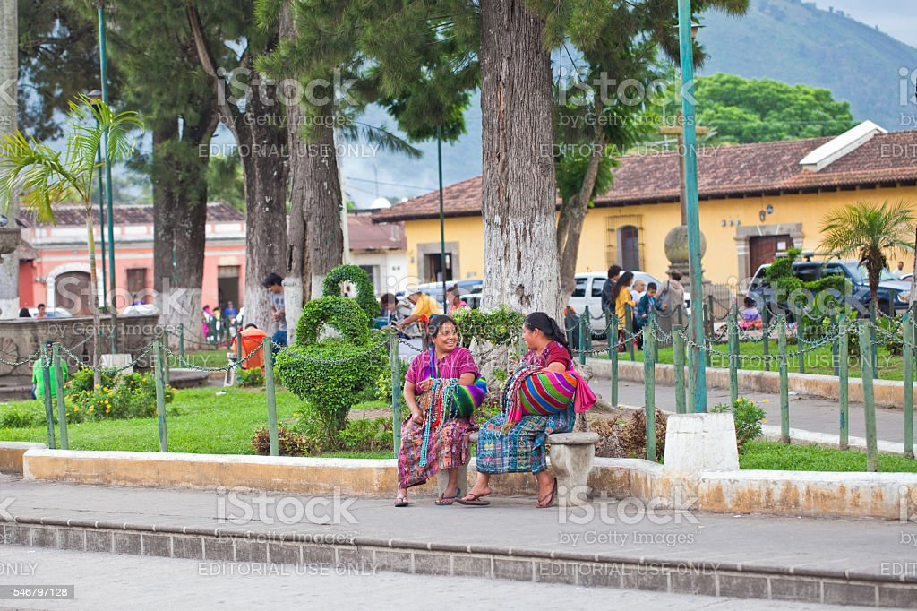 Traditional Guatemalan Women stock photo