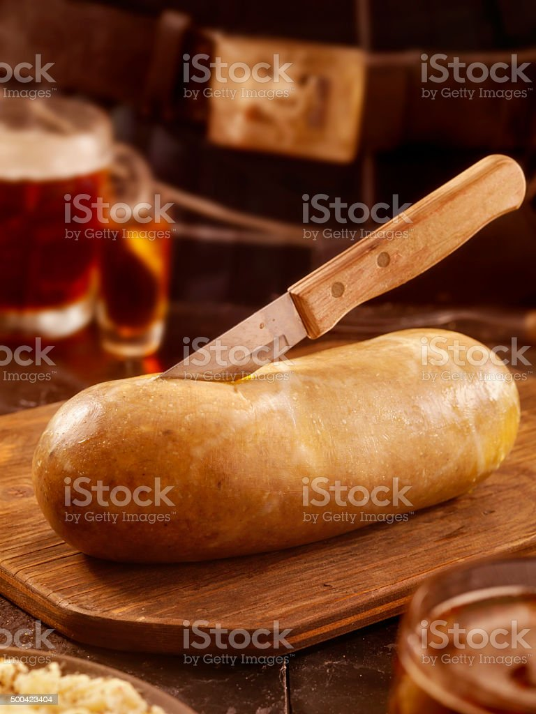 Traditional Haggis and Neeps with Whiskey and a beer stock photo