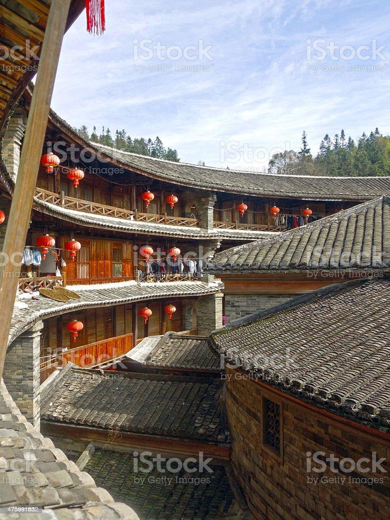 Traditional Hakka Tulou Housing in China stock photo