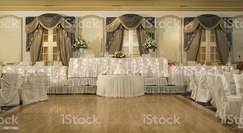 Traditional Hall for weddings royalty-free stock photo