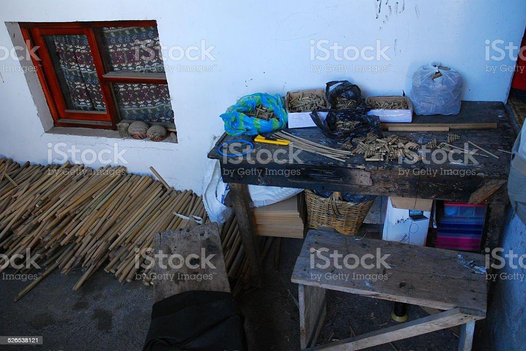 Traditional, Hand Made, Ecuadorian Musical Instruments royalty-free stock photo