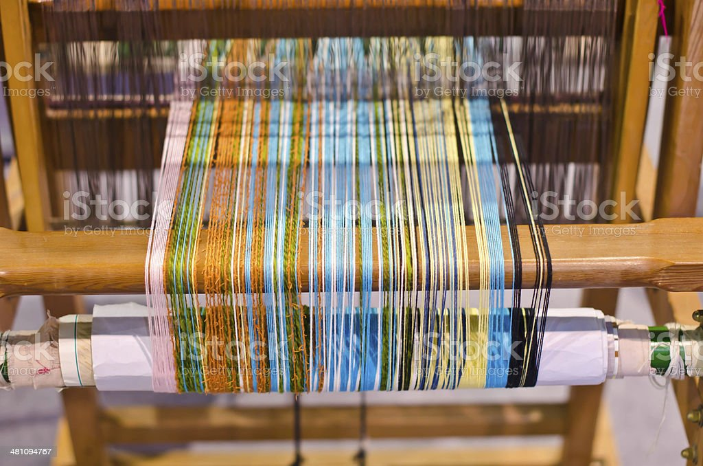 traditional hand weaving... stock photo