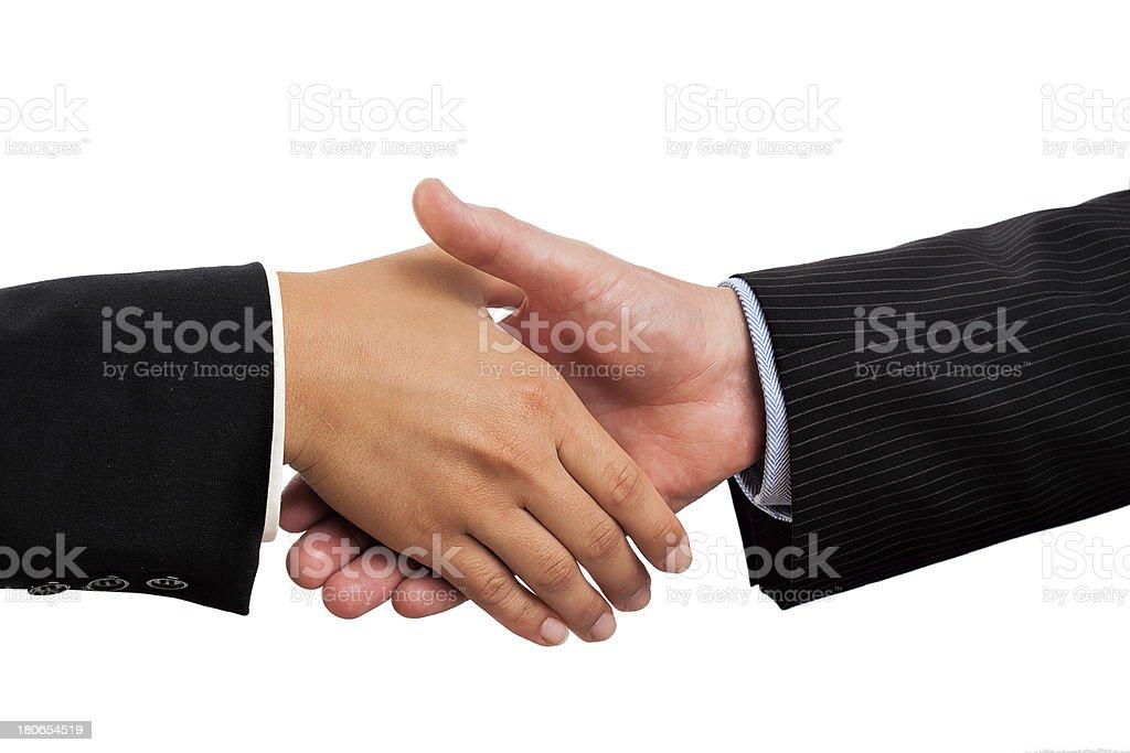 Traditional handshake royalty-free stock photo