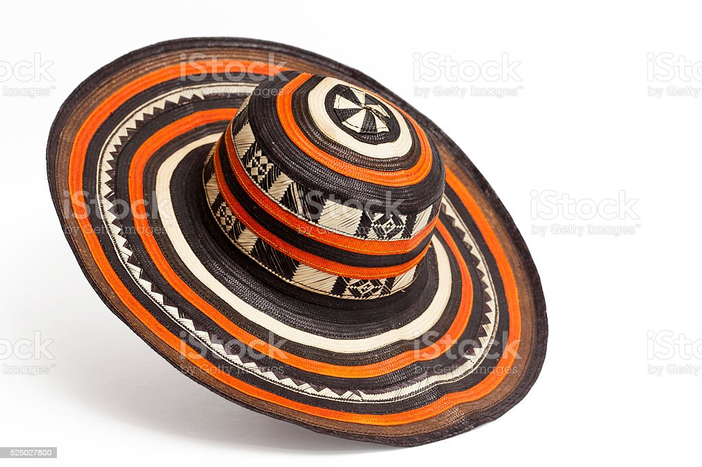 Traditional hat from Colombia: 'Sombrero vueltiao' stock photo