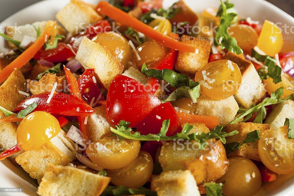Traditional Healthy Panzanella Salad stock photo