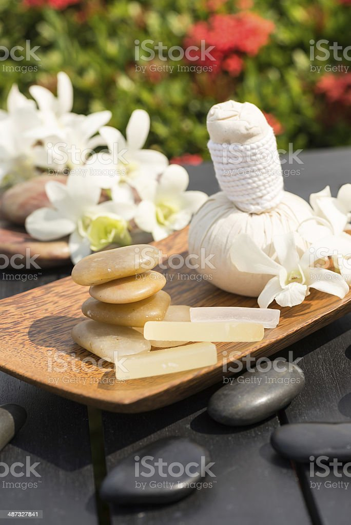 Traditional Herbal Spa Massage royalty-free stock photo