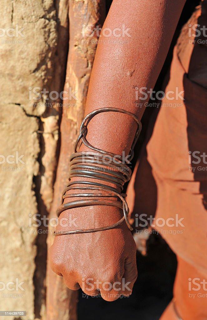 Traditional Himba bangles royalty-free stock photo