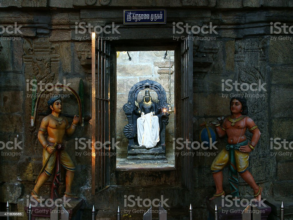 Traditional Hindu religion sculpture. stock photo
