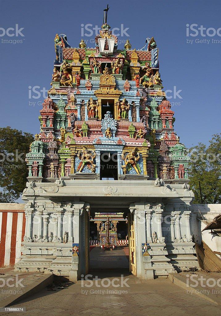 Traditional Hindu temple, South India, Kerala royalty-free stock photo