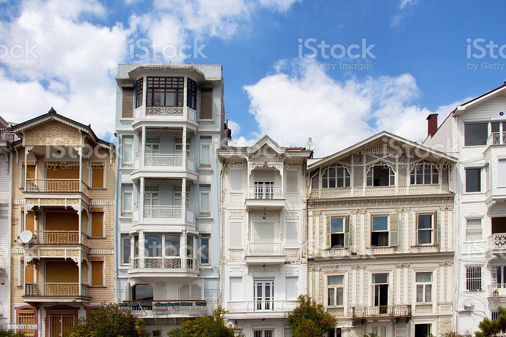 Traditional, historical, colourful, old buildings by Bosphours stock photo