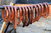 Traditional home made smoked sausages