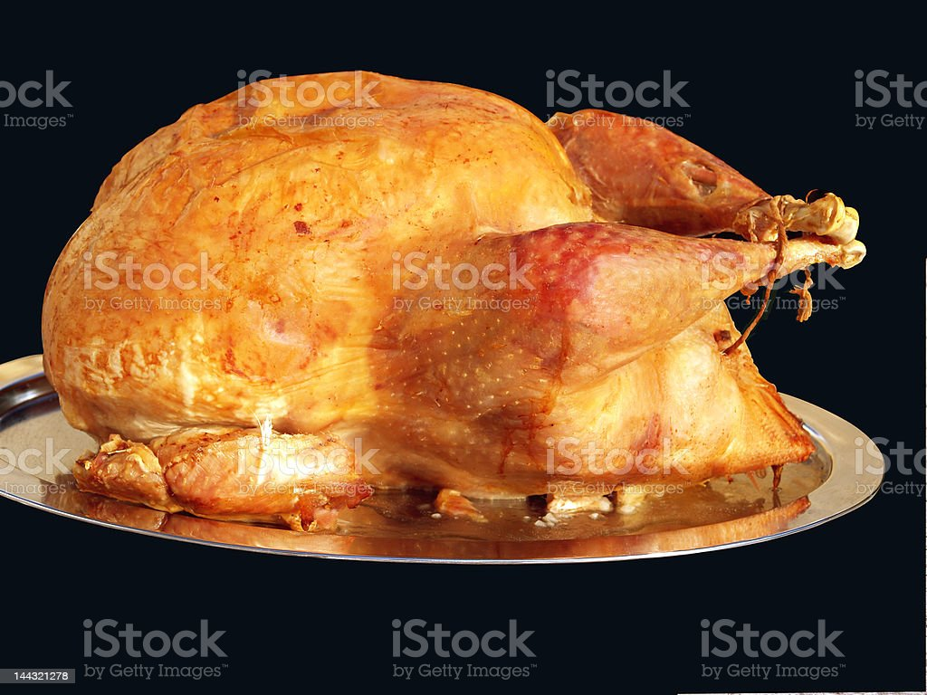 Traditional home roasted turkey royalty-free stock photo