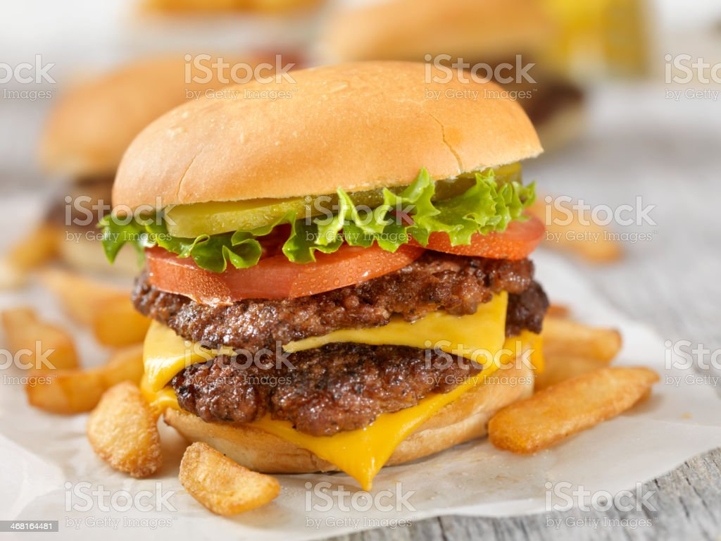 Traditional Homestyle Burger stock photo