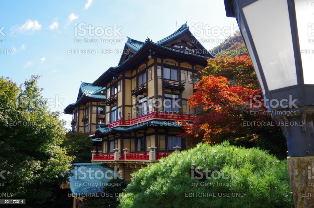 Traditional hotel in Japan stock photo