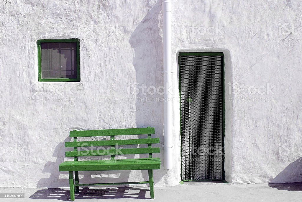 traditional house in cabo de gata andalusia stock photo