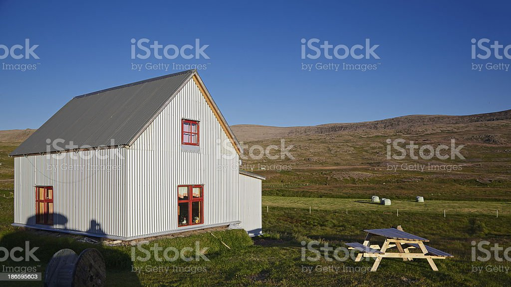 Traditional house in Iceland royalty-free stock photo
