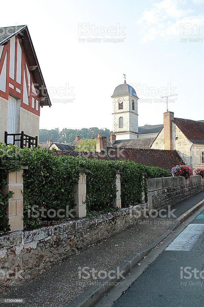 Tradizionale casa a La Chartre-sur-le-Loir, Francia foto stock royalty-free
