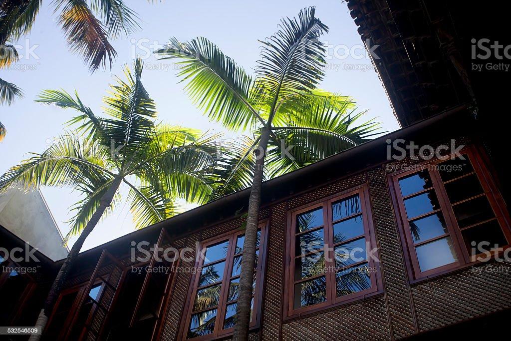 Traditional house in La Orotava, Tenerife, Spain stock photo