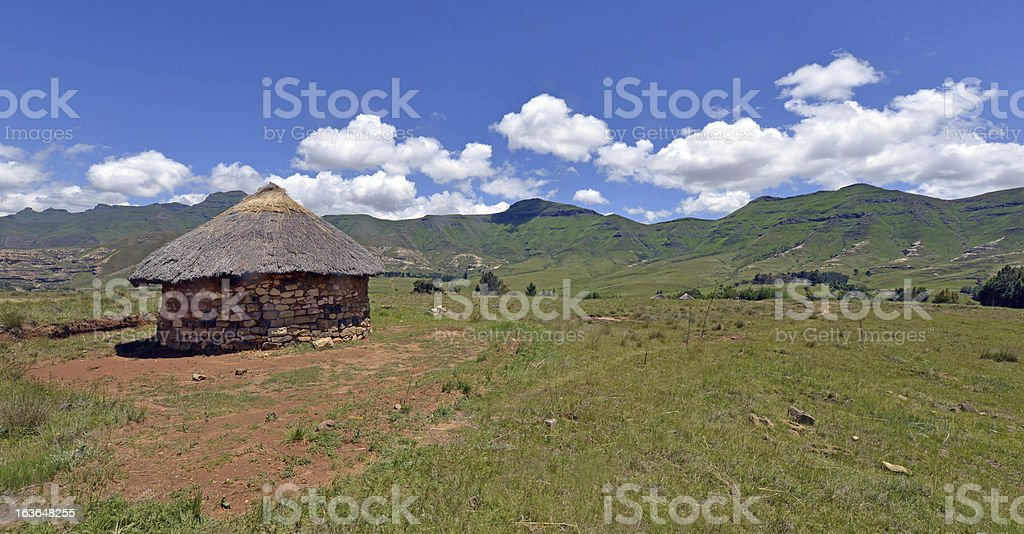 Traditional House in Lesotho royalty-free stock photo