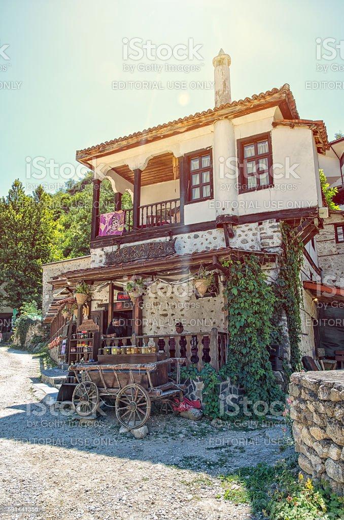 Traditional house in Melnik, Bulgaria. royalty-free stock photo