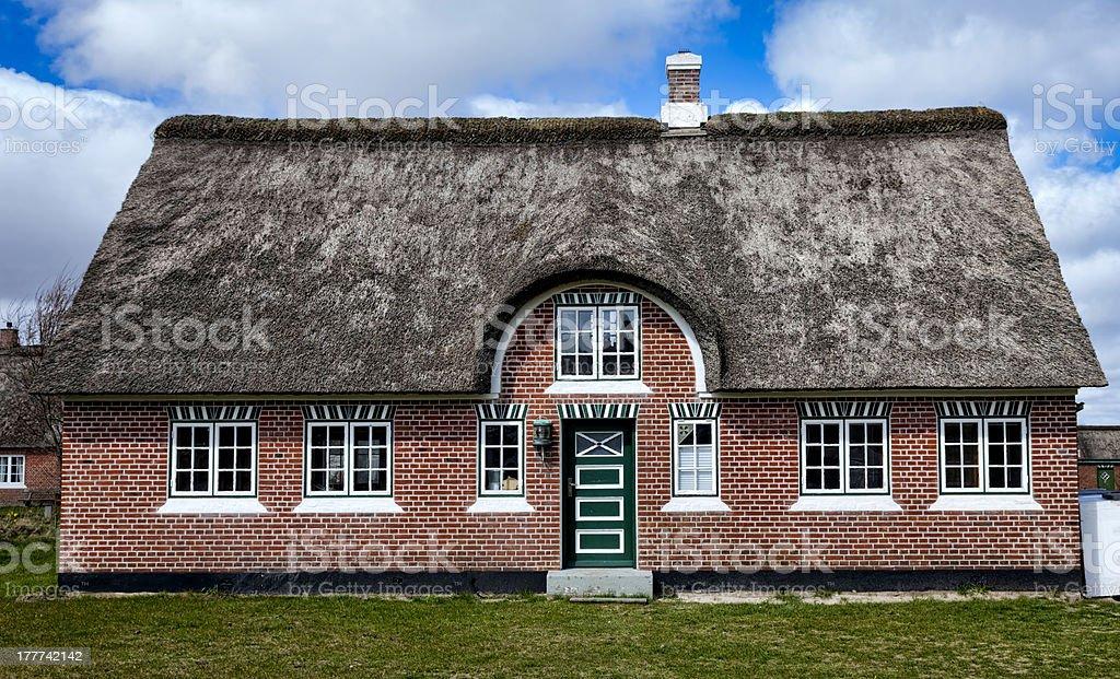Traditional house in Sonderho on the danish island Fano royalty-free stock photo