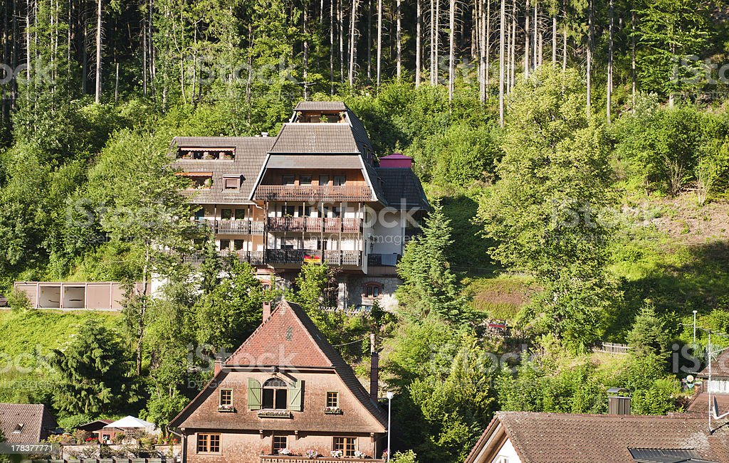 Traditional house in the Black Forest stock photo