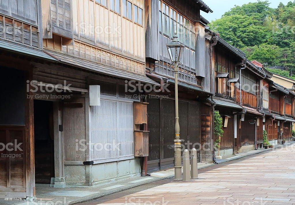 Traditional house Kanazawa Japan stock photo