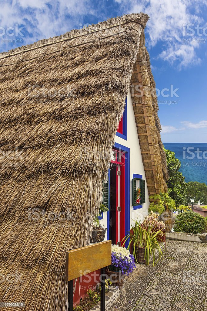 Traditional house, Madeira royalty-free stock photo