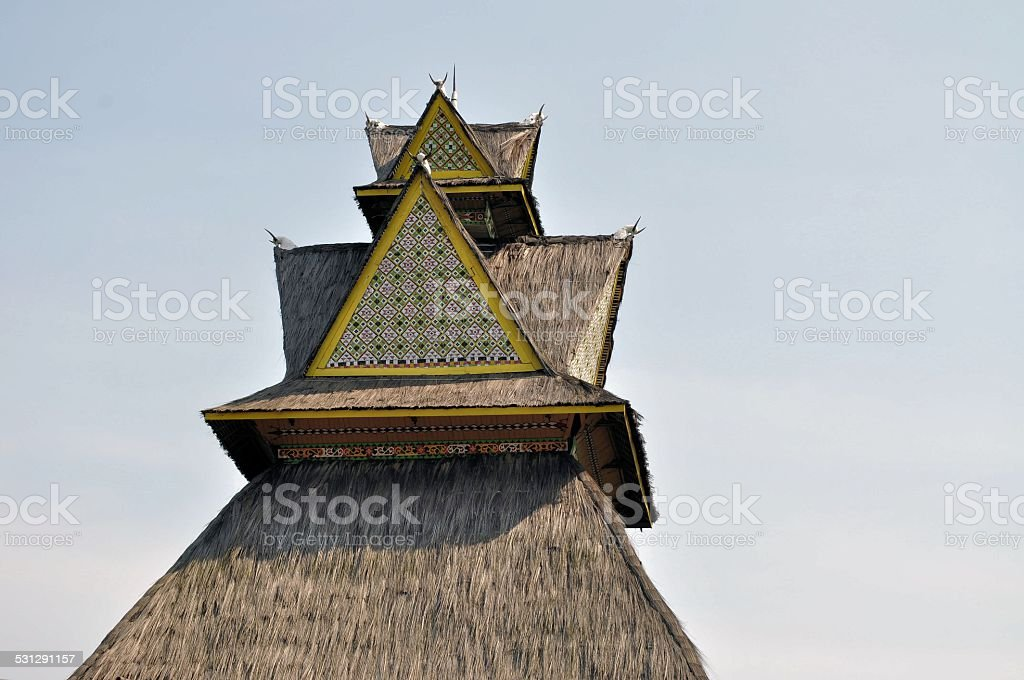 Traditional house on Riau, Sumatra, Indonesia stock photo