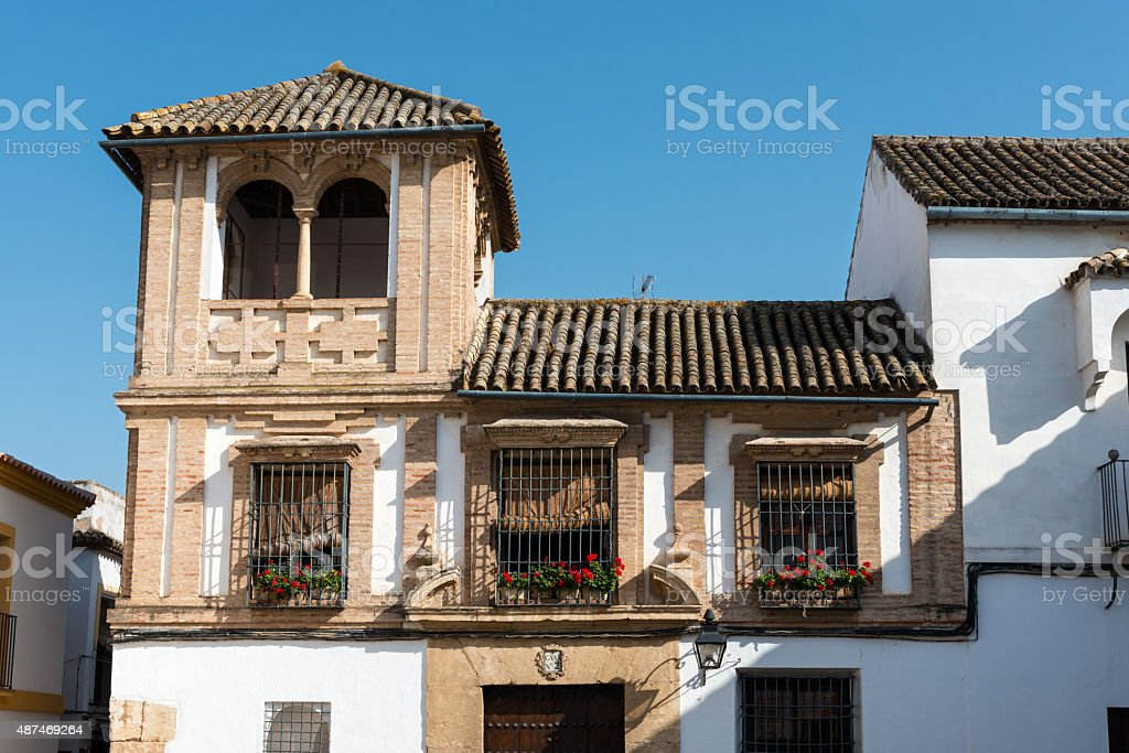 Traditional houses in Cordoba stock photo
