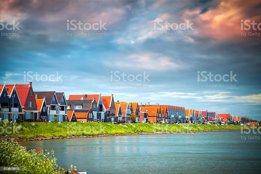 Traditional houses in Holland stock photo