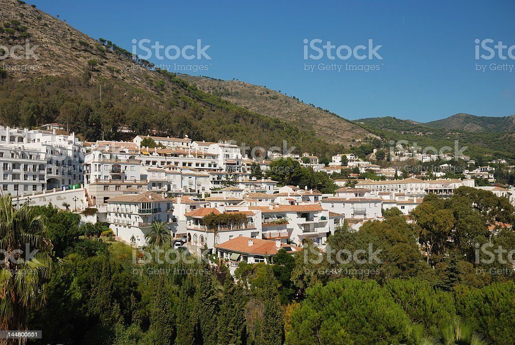 Traditional  houses in Malaga, Spain royalty-free stock photo