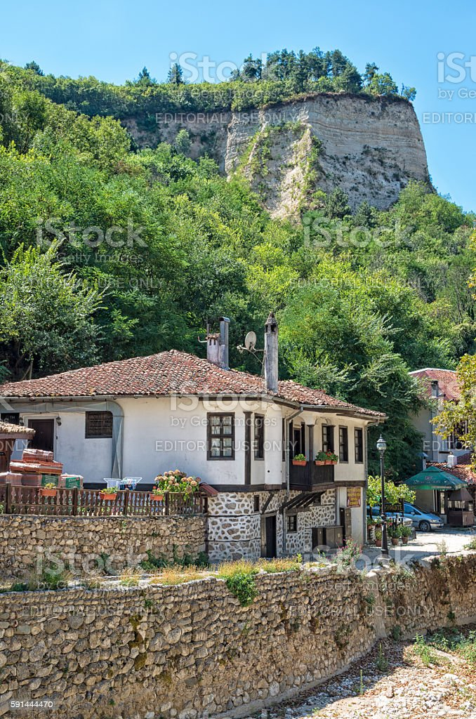 Traditional houses in Melnik, Bulgaria royalty-free stock photo
