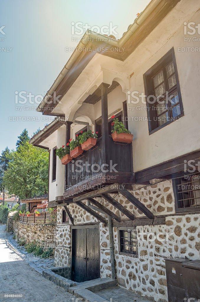 Traditional houses in Melnik, Bulgaria. royalty-free stock photo