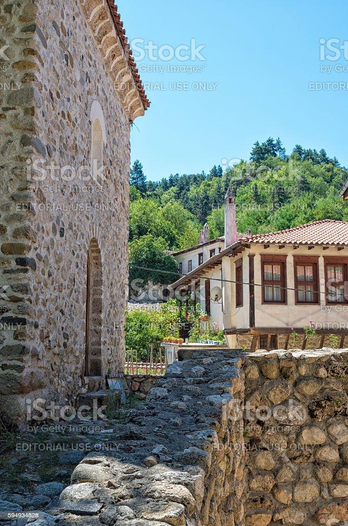 Traditional houses in Melnik, Bulgaria royalty-free stock photo