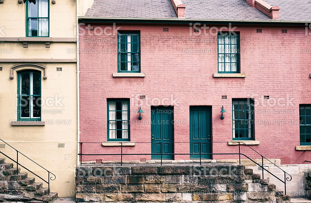 Traditional Houses In Sydney stock photo