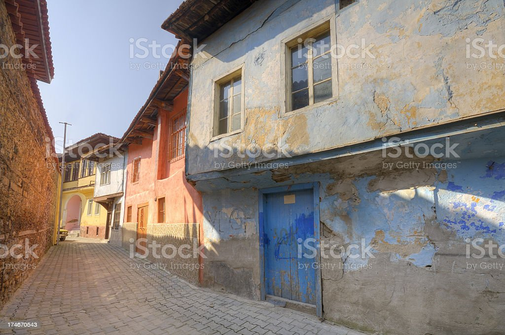 Traditional Houses Of Kula, Manisa, Turkey royalty-free stock photo