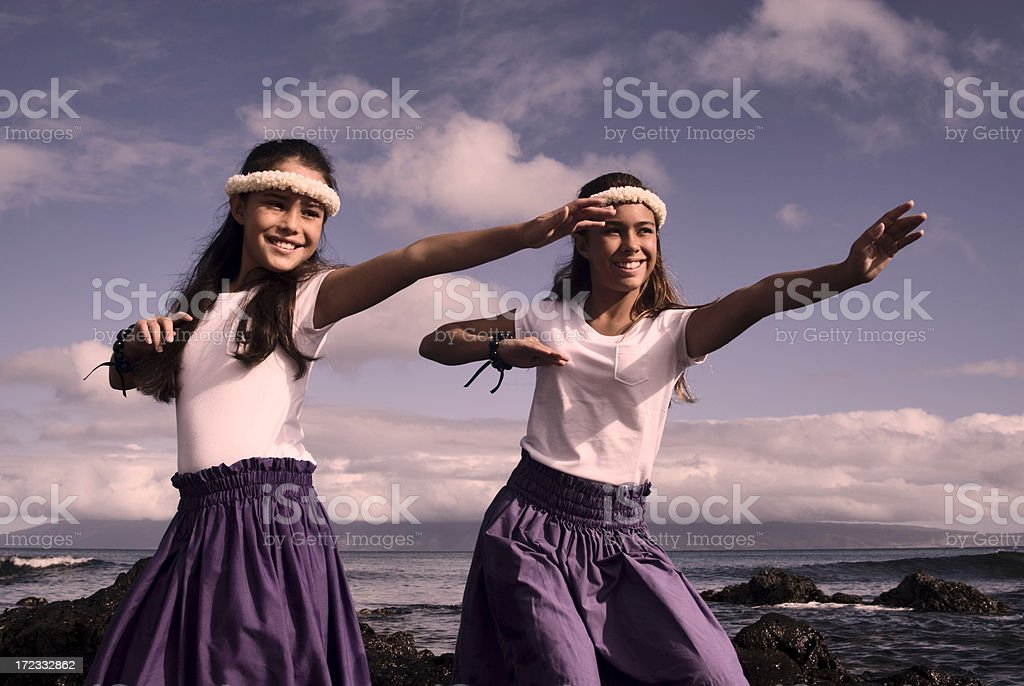 Traditional Hula royalty-free stock photo