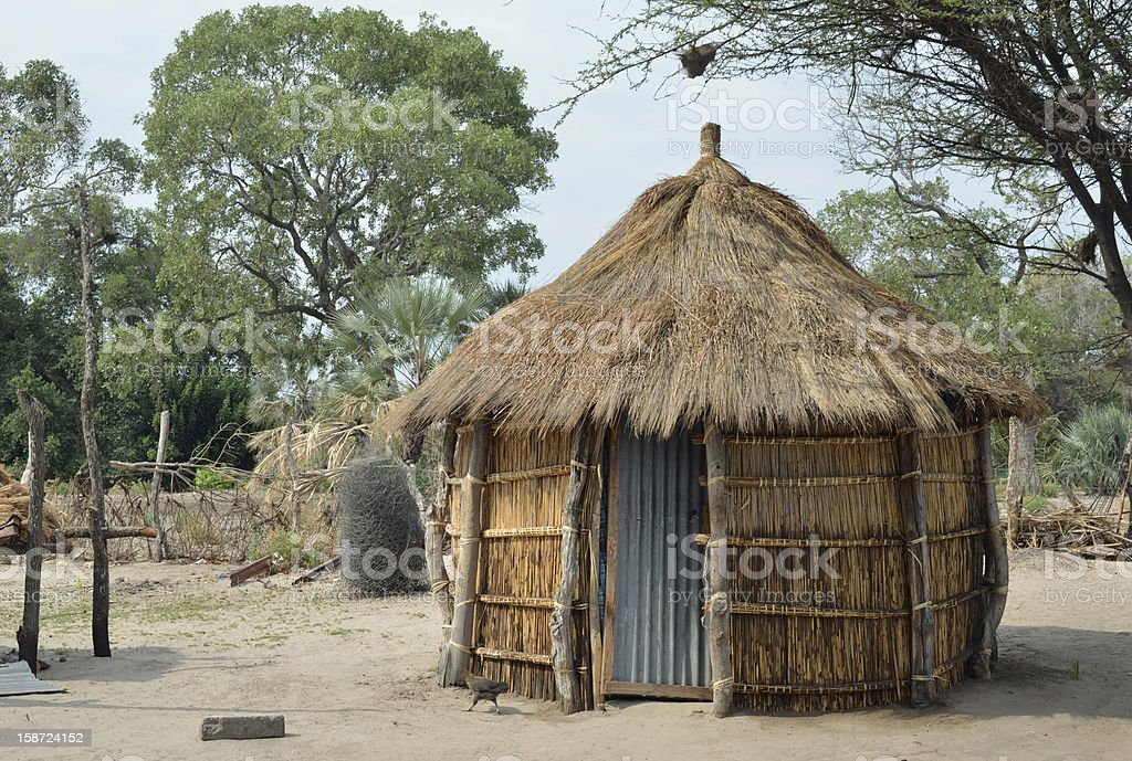 Traditional hut, Africa royalty-free stock photo