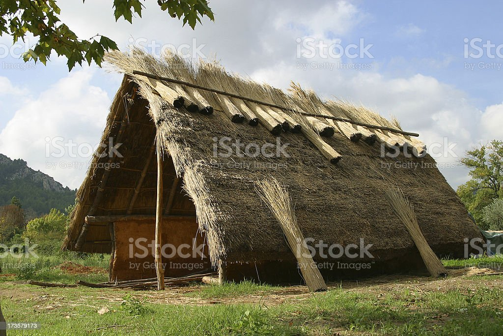 traditional hut stock photo