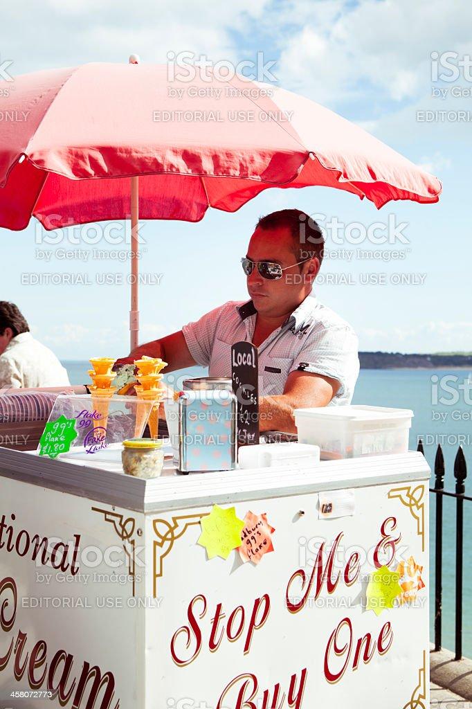Traditional Ice cream seller stock photo