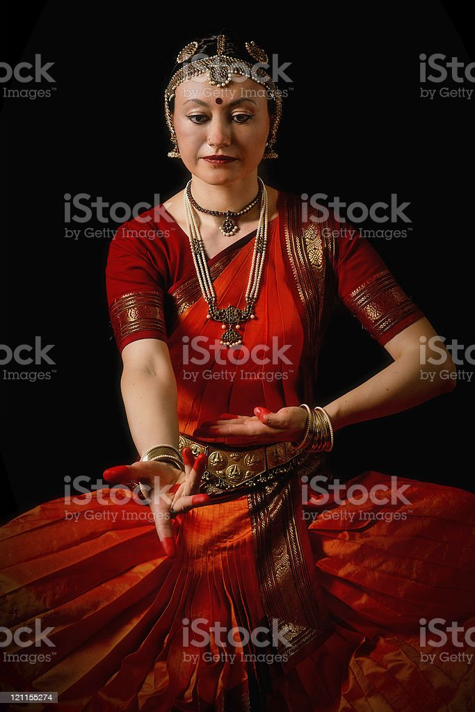 Traditional indian dancer royalty-free stock photo