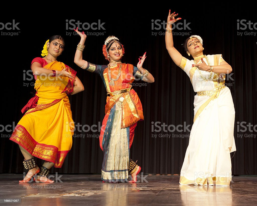 Traditional Indian Dancers stock photo