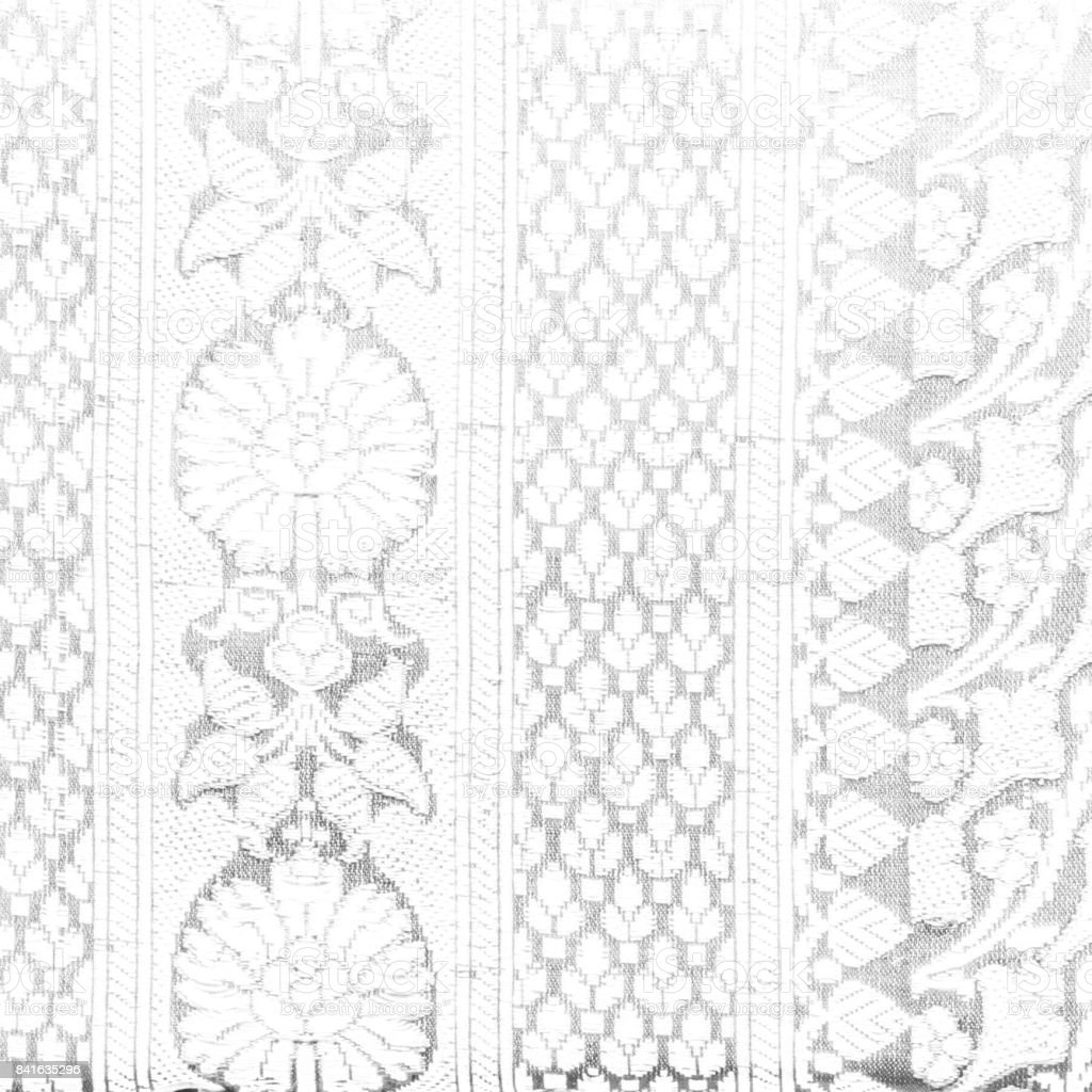 Traditional Indian fabric texture black and white with patterns can be used as background stock photo