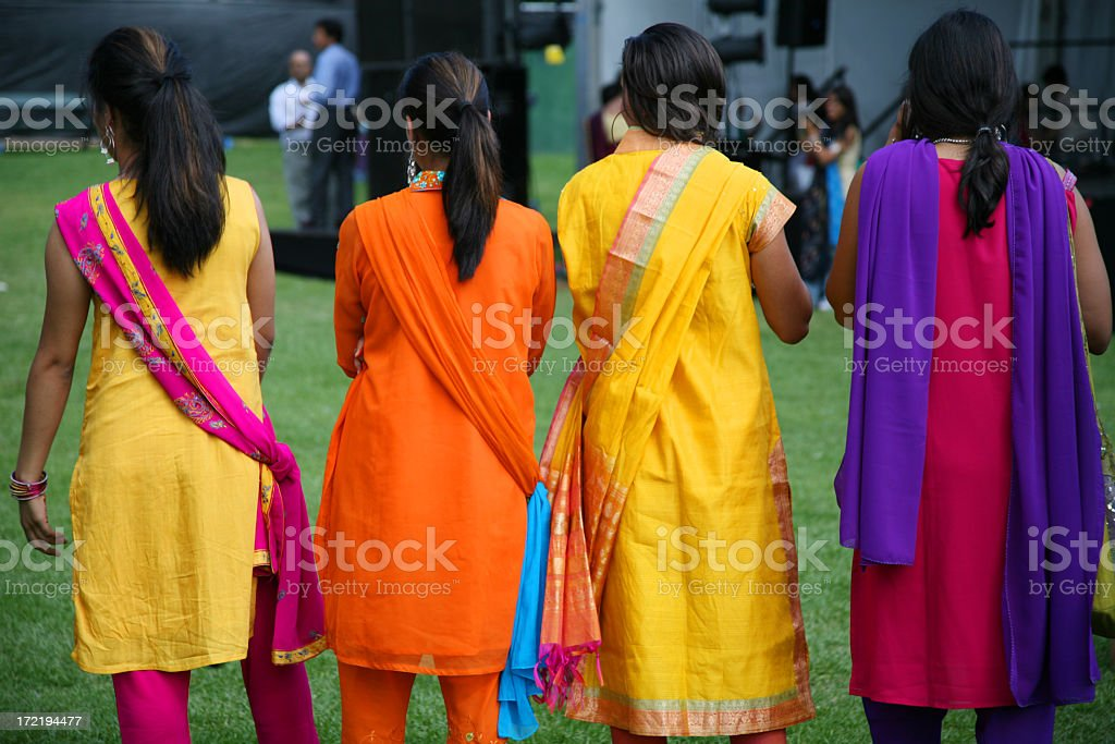Traditional indian girls stock photo