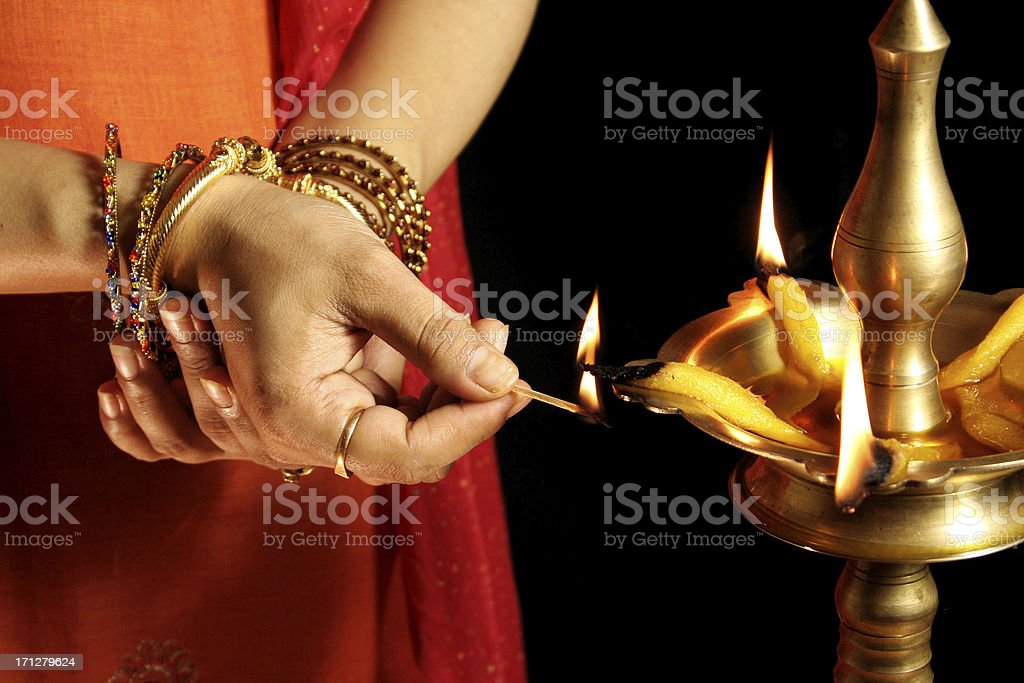 Traditional indian inauguration stock photo
